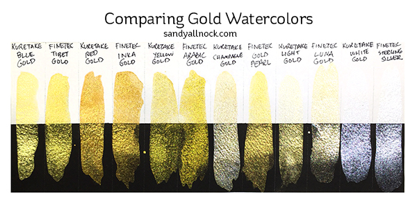 Sandy Allnock Chart Gold Watercolor