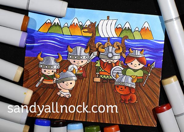 Sandy Allnock Masking Viking Scenes
