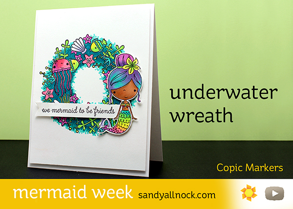 Mermaid Week #2: Underwater wreath