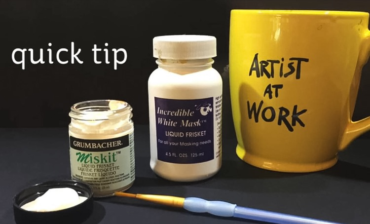 Quick Tip: Using brushes with Masking Fluids