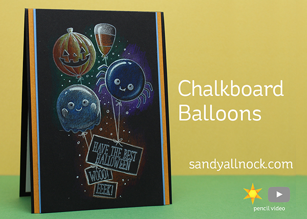 Chalkboard Balloons for Halloween