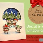 Diecut a round window card