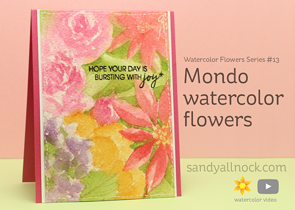 Watercolor Flowers Series #13: Mondo watercolor flowers