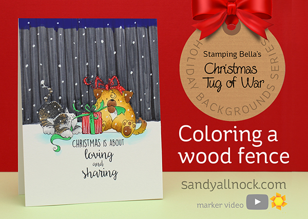 Christmas Tug of War: Coloring a Wood Fence