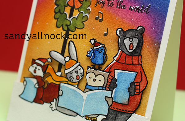 Painting Rich Watercolor Caroling Critters Sandy Allnock