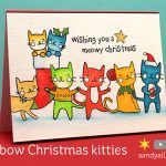 Rainbow Christmas Kitties – Inktense Pencils