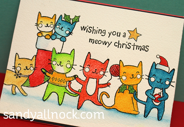 sandy-allnock-inktense-christmas-cats