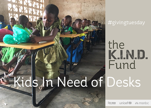 Giving Tuesday 2016: Matching your gifts to K.I.N.D. Fund and IAVA