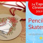 24 Tags of Christmas 2016: Pencil Ice Skates