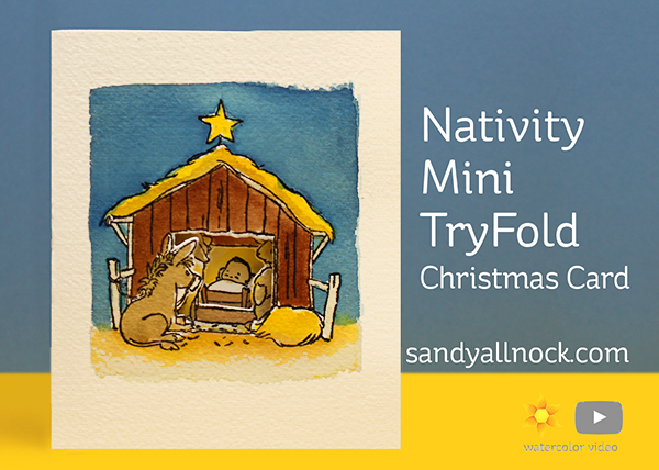 Nativity Mini TryFold Christmas Card