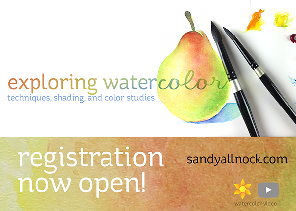 Exploring Watercolor class: preregistration!