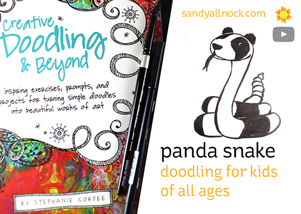 Panda Snake: Doodling for kids of all ages (with free downloadable)