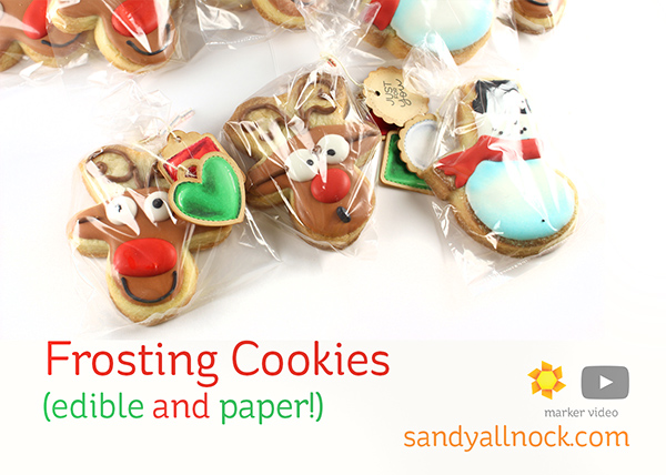 Frosting Cookies (edible and paper!)
