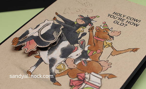 Mini Action Wobble Card – with cows!