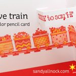 Love Train: 3-color Pencil Card