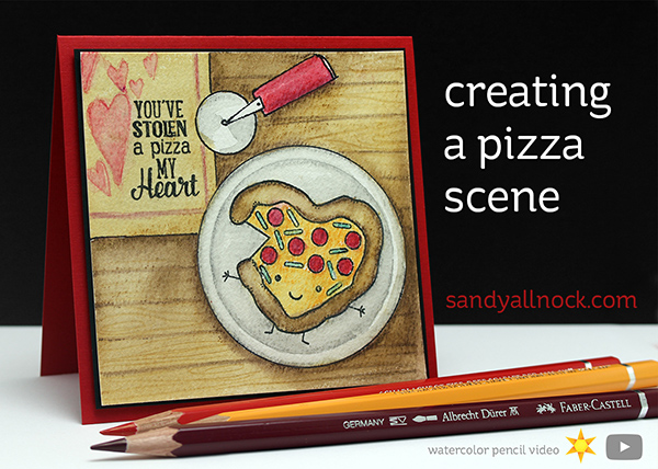 Creating a Pizza Scene – Watercolor Pencils