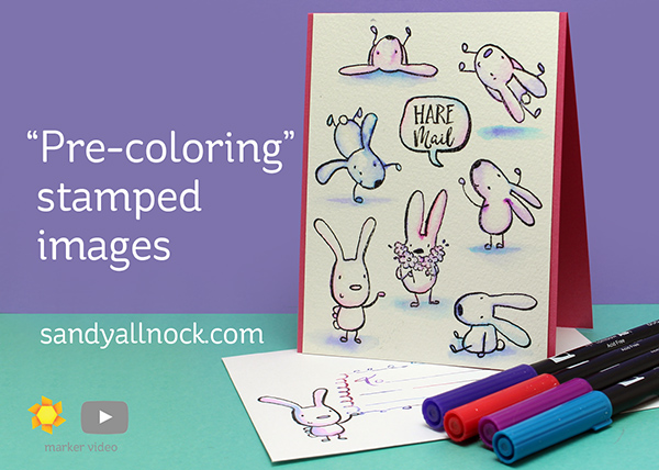 Hare Mail: Precoloring Stamped Images