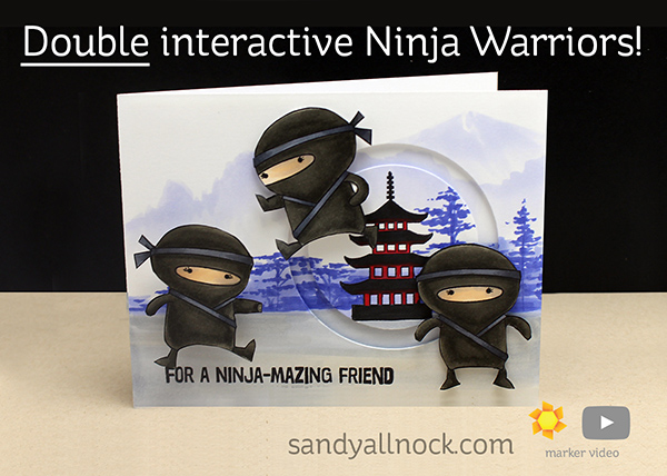 Double interactive Ninja Warriors!