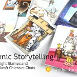 Scenic Storytelling – Top Flight Stamps and Katzelkraft Chiens et Chats