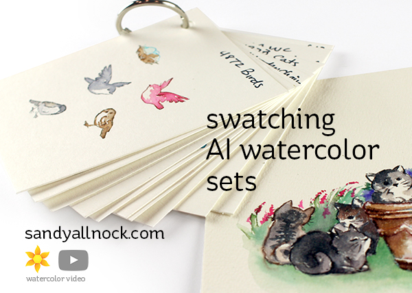 Swatching Art Impressions Watercolor Sets