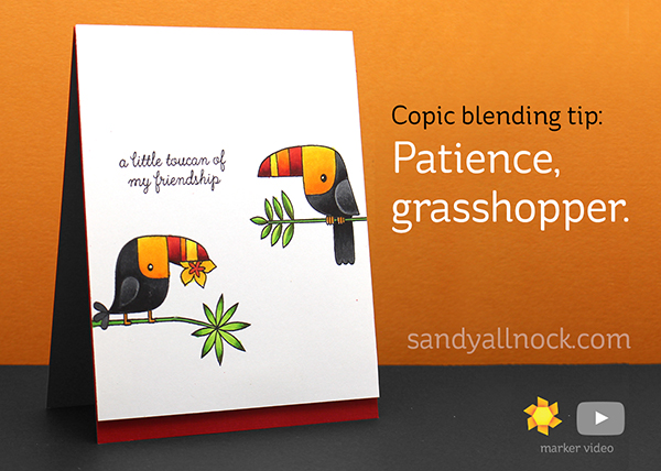 Copic Blending Tip: Patience, Grasshopper