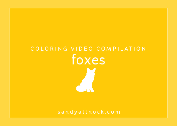 Compilation: 9 Fox coloring videos!