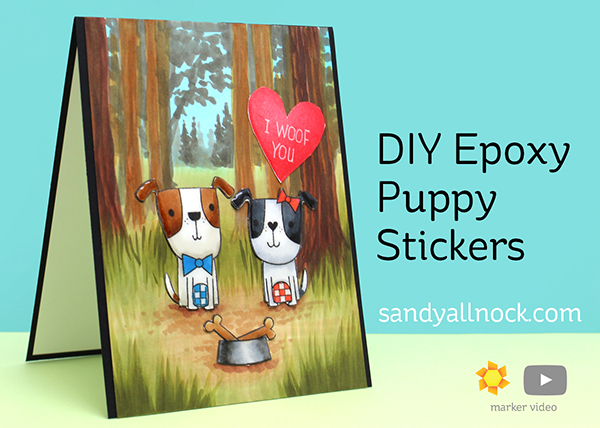 DIY Epoxy Puppy Stickers