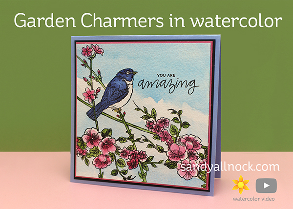 Garden Charmers in watercolor