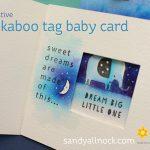 Peekaboo Tag Baby Card