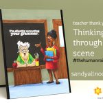 Thinking through a scene: teacher thank you card