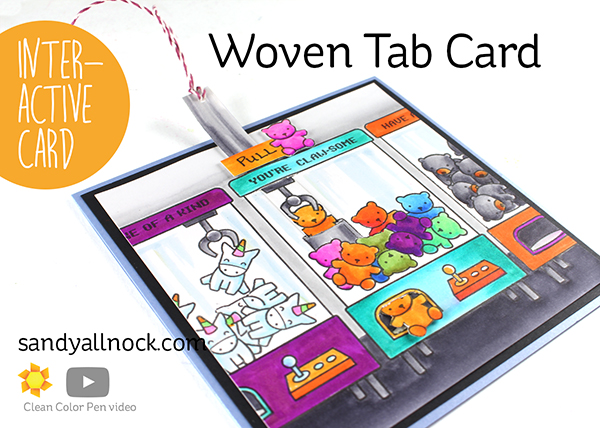Interactive: Woven Tab Card – Clawsome by Lawn Fawn