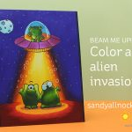 Beam me up! Color an alien invasion