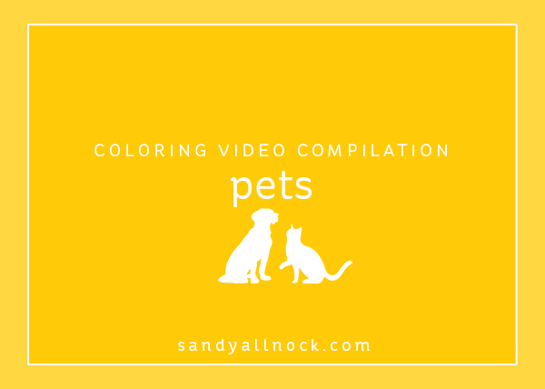 Compilation: 26 Pet coloring videos!
