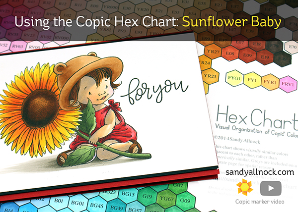 Using the Copic Hex Chart: Sunflower Baby (plus FBLive!)