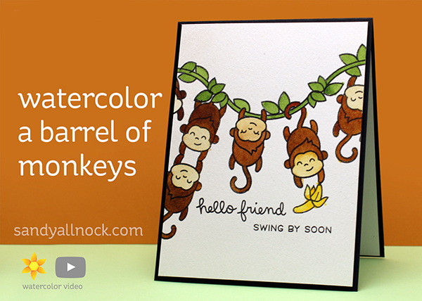 Watercolor a barrel of monkeys!
