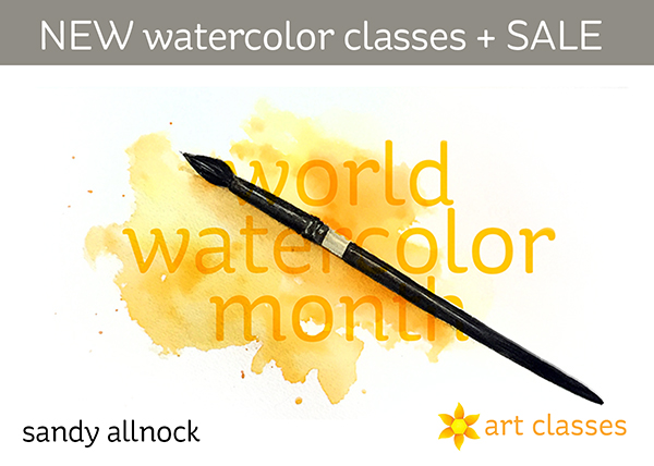 World Watercolor Month: 2 new classes