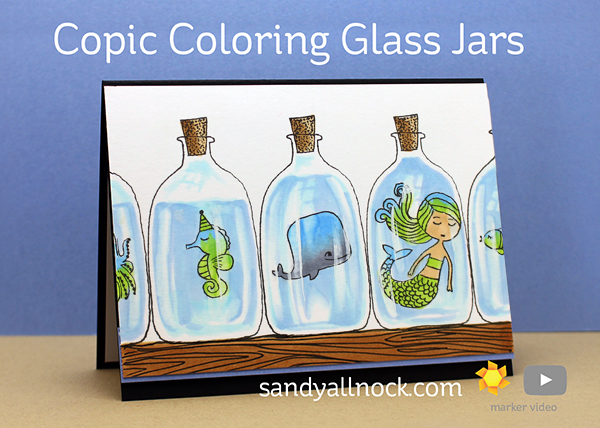 Copic Coloring Glass Jars – Flora & Fauna Mermaid Kisses
