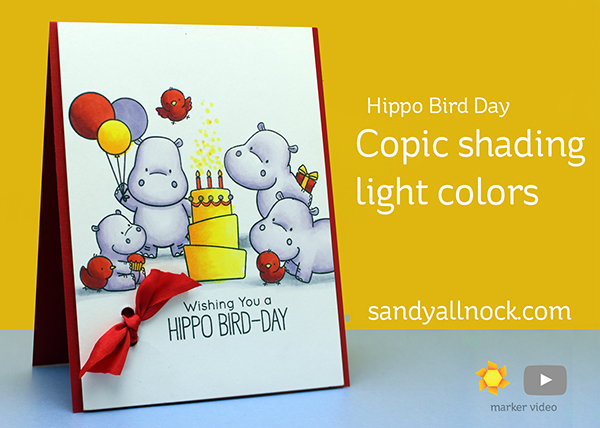 Copic shading light colors – Hippo Bird Day