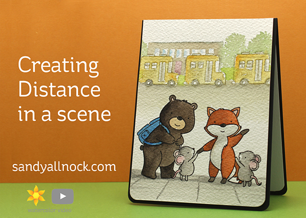 Creating Distance in a Scene: N&T Schoolhouse