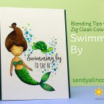 Honey Bee's Swimming By – with Zig Clean Color Pen Tips