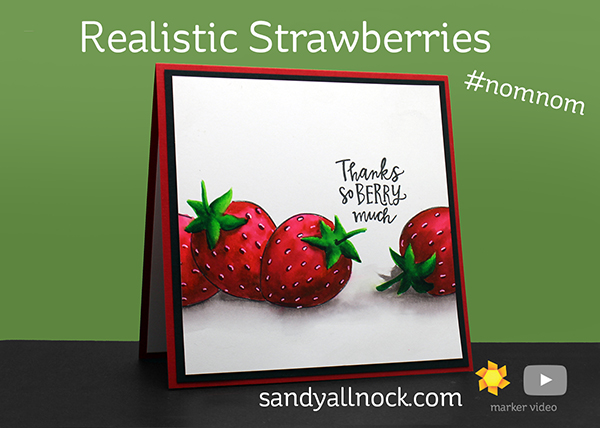 Coloring Realistic Strawberries – Zig Twin Tip Markers