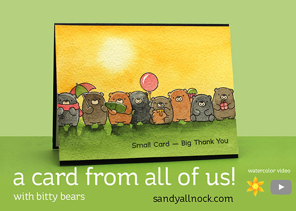 A card from all of us! with bitty bears