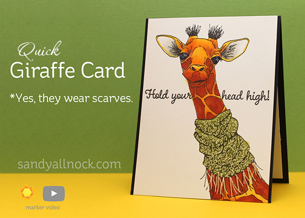 Quick Giraffe Card *And yes, they wear scarves.
