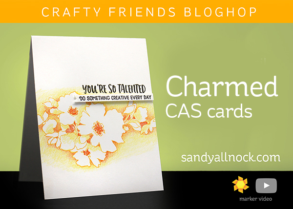 Altenew Crafty Friends Bloghop: Charmed CAS cards