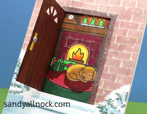 Christmas Door Cards Lawn Fawn Shut The Front Door