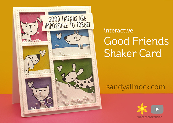 Good Friends Shaker Card