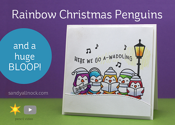 Rainbow Christmas Pencil Penguins..and a huge BLOOP! (+winners)