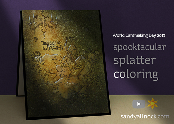 WCMD#2: Spooktacular Splatter Coloring for Halloween