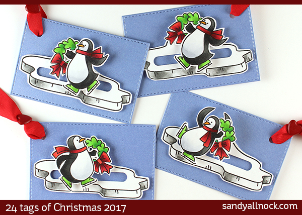 24 Tags of Christmas 2017: Penguin Slider Tags