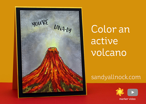 Color an active volcano – Heffy Doodle